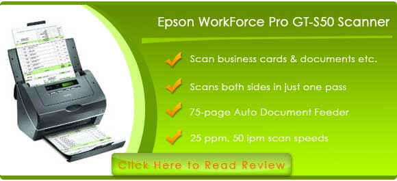 Epson WorkForce Pro GT-S50 Document Imaging Scanner